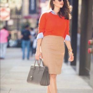 J CREW Beige Wool No. 2 Pencil Skirt!